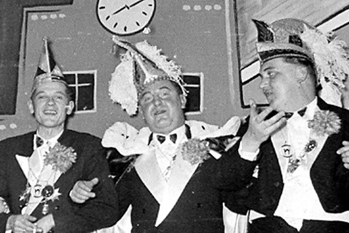 1959 - Prinz Hans I. Lehrke mit Mundschenk Bruno Israel