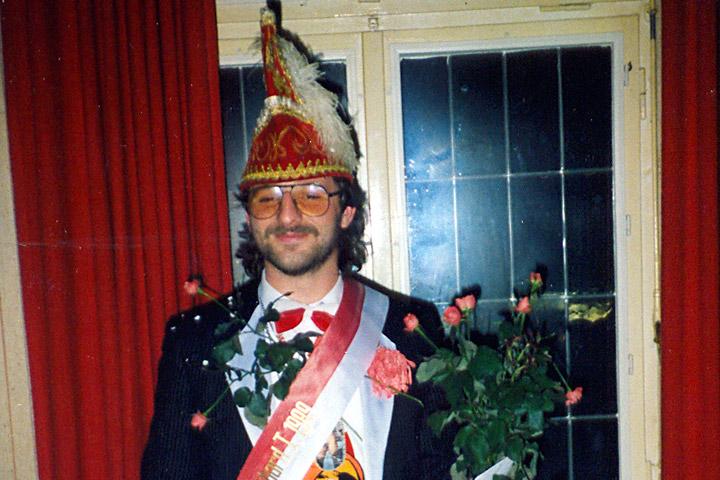 1989 Prinz Burkhard I. Hellweg mit Mundschenk Heinz Stille
