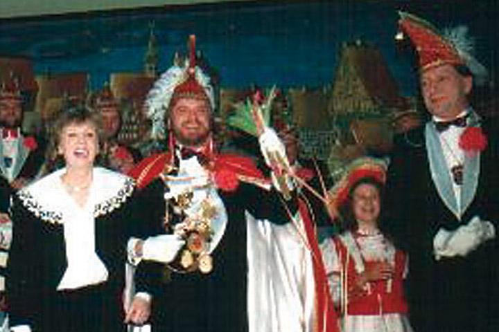 1991 Prinz Klaus I. Lehrke mit Mundschenk Reinhold Giel