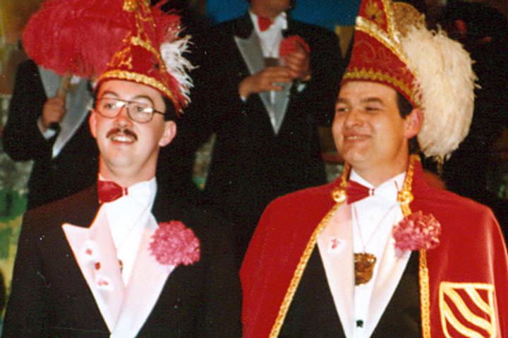 1994 Prinz Carsten I. Tappe mit Mundschenk Martin Klosterkamp