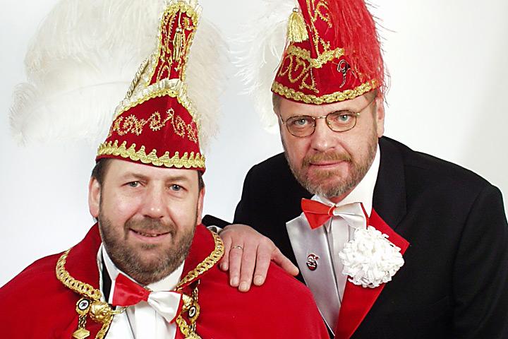2001 Prinz Klaus II. Gania mit Mundschenk Klaus Lehrke