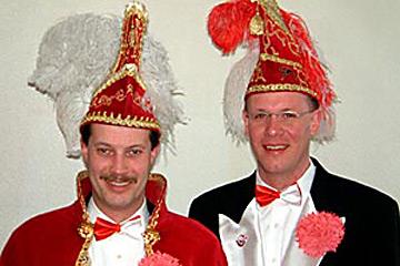 2003 Prinz Klaus III. Lohmeier mit Mundschenk Guido Prinz