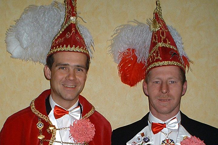 2004 Prinz Holger I. Franz mit Mundschenk Jörg Kohlmann
