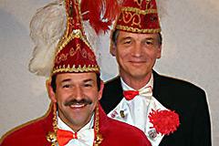 2007 - Prinz Peter I. Beermann mit Mundschenk Thomas Baule