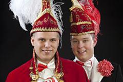 2009 - Prinz Maik I. Siekmann mit Mundschenk Hendrik Roggenkamp
