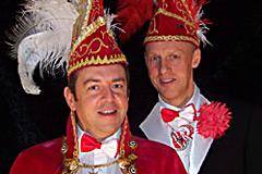 2012 - Prinz Uwe I. Hoffmann mit Mundschenk Bernd Lütke