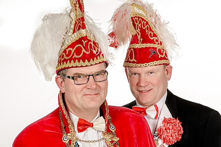 Prinz Heinrich III. Beckord mit Mundschenk Heinz-Bernd Focken