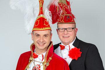 Prinz Patrick I. Reitmeyer und Mundschenk Markus Inhestern